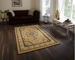 traditional heritage soft wool look pile rug floral swirl pattern
