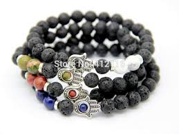 mens beaded jewelry bracelet images 2018 new design men 39 s beaded protection hamsa bracelets lava stone jpg