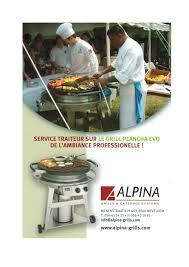 cuisine sur plancha plancha grill alpina grills pdf catalogues documentation