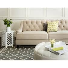 sofa taupe abbyson claridge beige velvet fabric tufted sofa free shipping