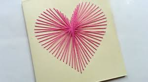 how to create a beautiful string art heart card diy crafts