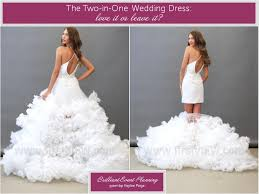 chagne wedding dress two in one wedding dress of the