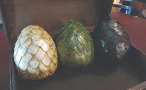 paper mache egg eggs of thrones