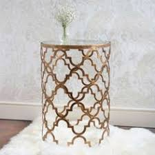 small gold side table interior design trends gold ethan allen mirror top golden side