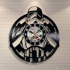 vinyl evolution stormtrooper star wars vinyl record clock wall