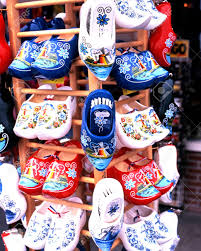 clogs for sale at gift shop in the harbour area volendam holland