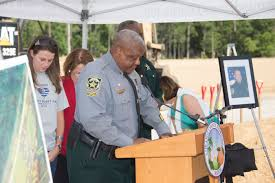 community gathers for groundbreaking of deputy scott pine