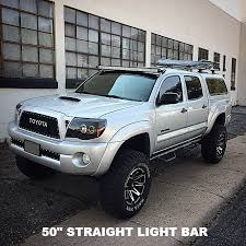 2017 tacoma light bar 50 led light bar w roof mount brackets 2005 2018 toyota tacoma
