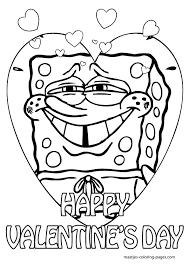 spongebob valentines coloring pages chidren coloring pages