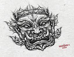 thai design yak tattoo design thai giant aka by munlyne on deviantart