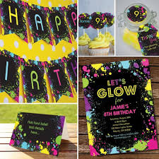 glow in the decorations let s glow neon party decorations set tween party decor