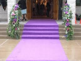 Aisle Runner Purple Aisle Runners