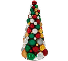 16 illuminated ornament tabletop tree by valerie page 1 qvc