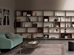 storage wall modular bookcase for home and office idfdesign