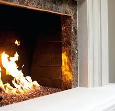 custom gas log fireplace fireball glass turns black clean cloudy