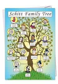 schitt family tree birthday card nobleworkscards
