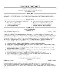 Insurance Resume Examples by Claims Adjuster Resume Sainde Org