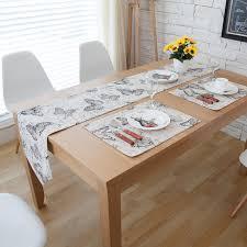 home decor table runner burlap linen vintage french style butterfly home decor table runner