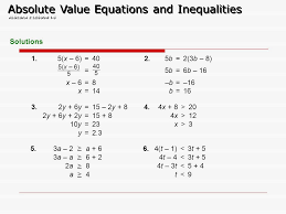 1 4 practice solving absolute value equations tessshebaylo