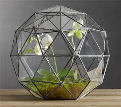 geometric glass terrariums for home office wedding decoration