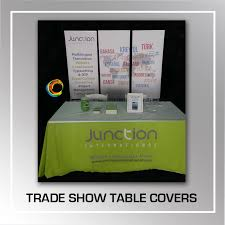 trade show table covers cheap postcards