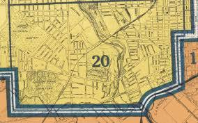 Baltimore City Map Baltimore City 1935 Ward 20