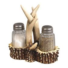 faux antler salt pepper shaker set