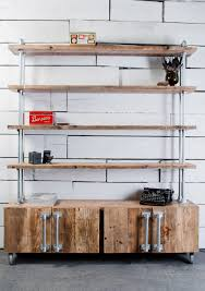 Steel Pipe Shelving by Jo 4 Door Reclaimed Scaffolding Board And Galvanised Steel