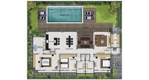 villa plan bali villa design floor plan house style and plans