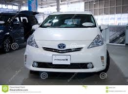 toyota japan 2017 toyota prius toyota electro car japan editorial image