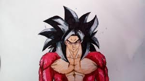drawing goku super saiyan 4 ssj4 dragonball gt param