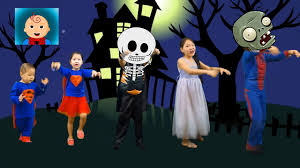 Zombie Family Halloween Costumes by Learn Colors Zombie Animal Toys Xylophone Finger Family Song