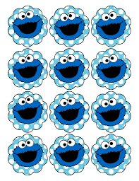 cookie monster baby shower cupcake topper mickey mouse 1st birthday tag sticker 2
