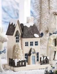 mini lights for christmas village love these little houses christmas decor thanks giving