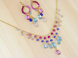pink ruby necklace images Pink and blue topaz jewelry set pink ruby pink sapphires and jpg