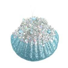 st nicholas square glitter seashell ornament