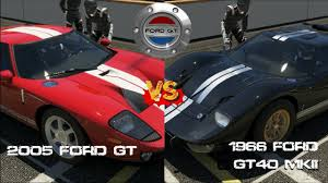 ford gt vs lamborghini murcielago forza 5 2005 ford gt vs 1966 ford gt40 mkii gameplay
