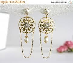 gold bridal earrings chandelier 25 sale bridal earrings bridal dangle earrings dangle