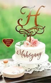 h cake topper letter h cake topper wedding cake topper letter rustic cake