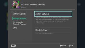 how to delete archive and reinstall digital games on nintendo