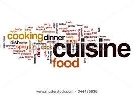 word for cuisine cuisine word cloud stock illustration 344435636