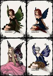 big four fairies and pixies by marssetta on deviantart