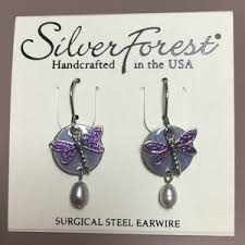 silver forest earrings website silver forest jewelry dragonfly earrings poshmark