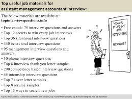 assistant management accountant interview questions