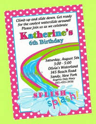 Backyard Birthday Party Invitations by Water Slide Party Birthday Party Invitations By Noteablechic