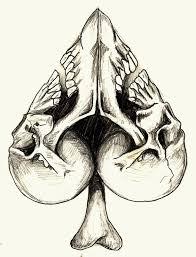 spades skull tattoo design u2026 pinteres u2026