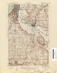 Spokane Washington Map Washington Historical Topographic Maps Perry Castañeda Map