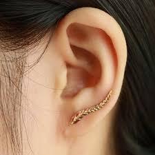 feather stud earrings gold plated earrings modern beautiful feather stud earrings free