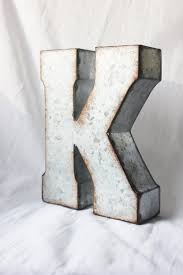 large metal letter zinc steel initial home room decor diy signs
