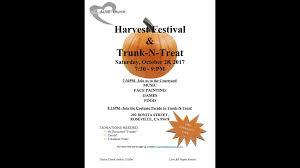 halloween 2017 harvest festival u0026 trunk or treat macaroni kid
